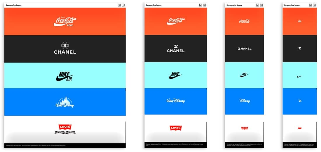 Разработка дизайна логотипа для адаптивных сайтов. Пример